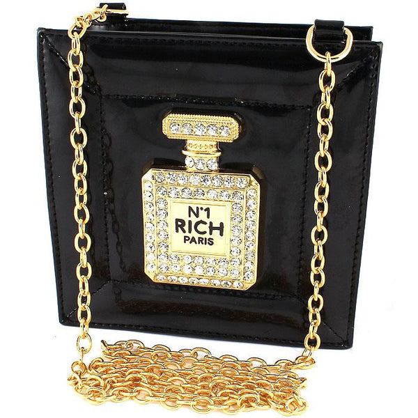 Rhinestone Perfume Bottle Purse