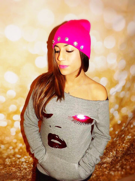 Limited Edition Pink Lips & Lashes Sweatshirt