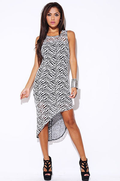 Animal Print On High Low Dress