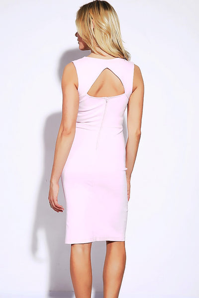 Sweetheart Neckline Fitted High Slit Bodycon Pencil Dress