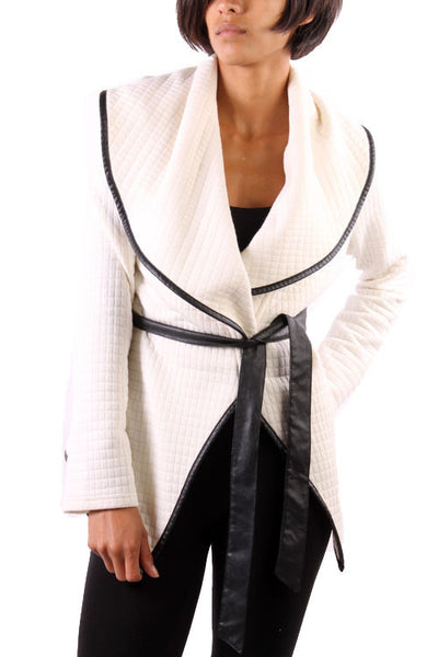 Chic Jacket With Waist Drawstring