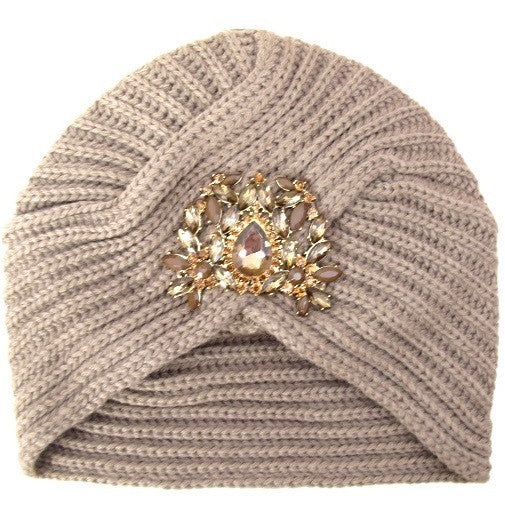 Bejeweled Knit Turban