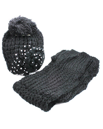 Knit Beanie And Scarf Set