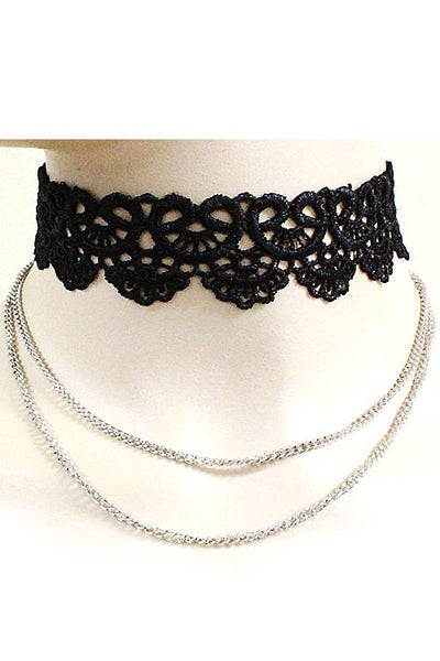 Two Layer Choker Necklace Set