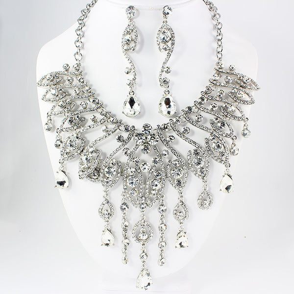 Dripping Teardrop Necklace Set
