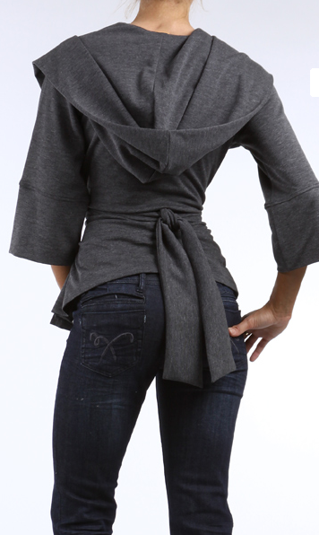 Chic Hooded Wrap Jacket