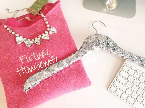Future Housewife Off Shoulder Sweatshirt