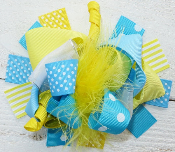 Yellow Blue Boutique Bow