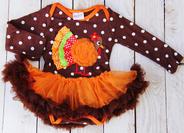 Turkey Tutu Onesie AS SEEN ON MEILANI MATHEWS