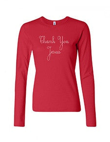 LIMITED EDITION Red Thank You Jesus Bling Tank Top