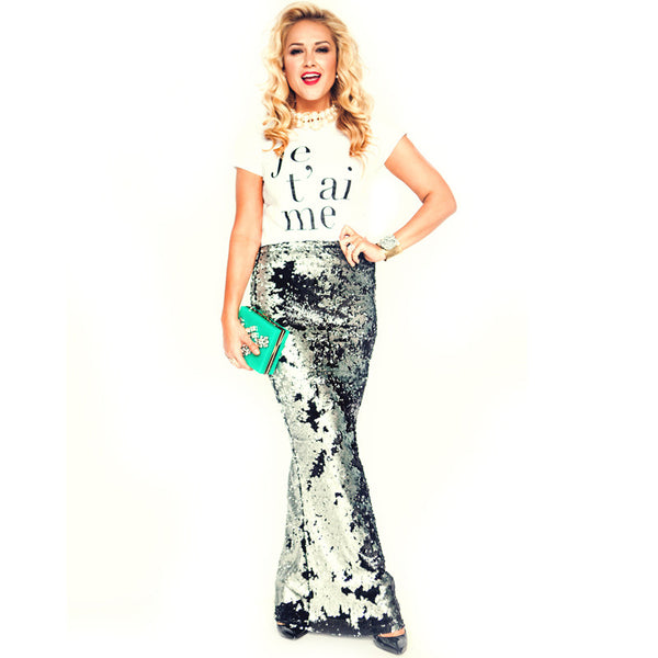 Stunning Sequin Maxi Skirt