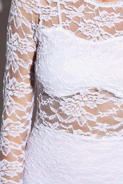 THE ONE White Lace Overlay Dress