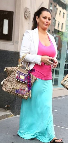 Solid High Waisted Maxi Skirt AS SEEN ON JWOWW