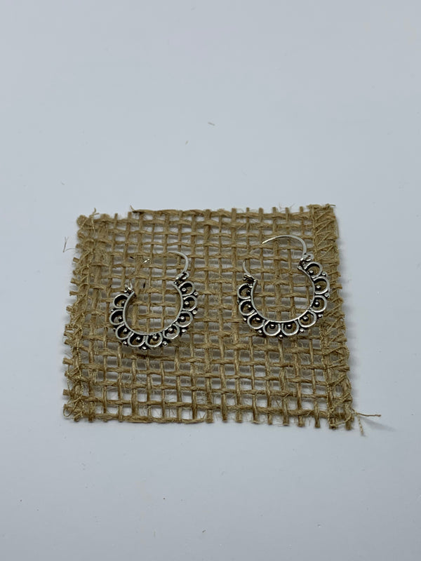 Antiqued Gardenia Hoops