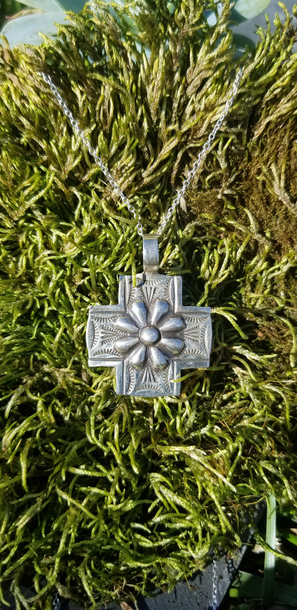 Blooming Cross Necklace