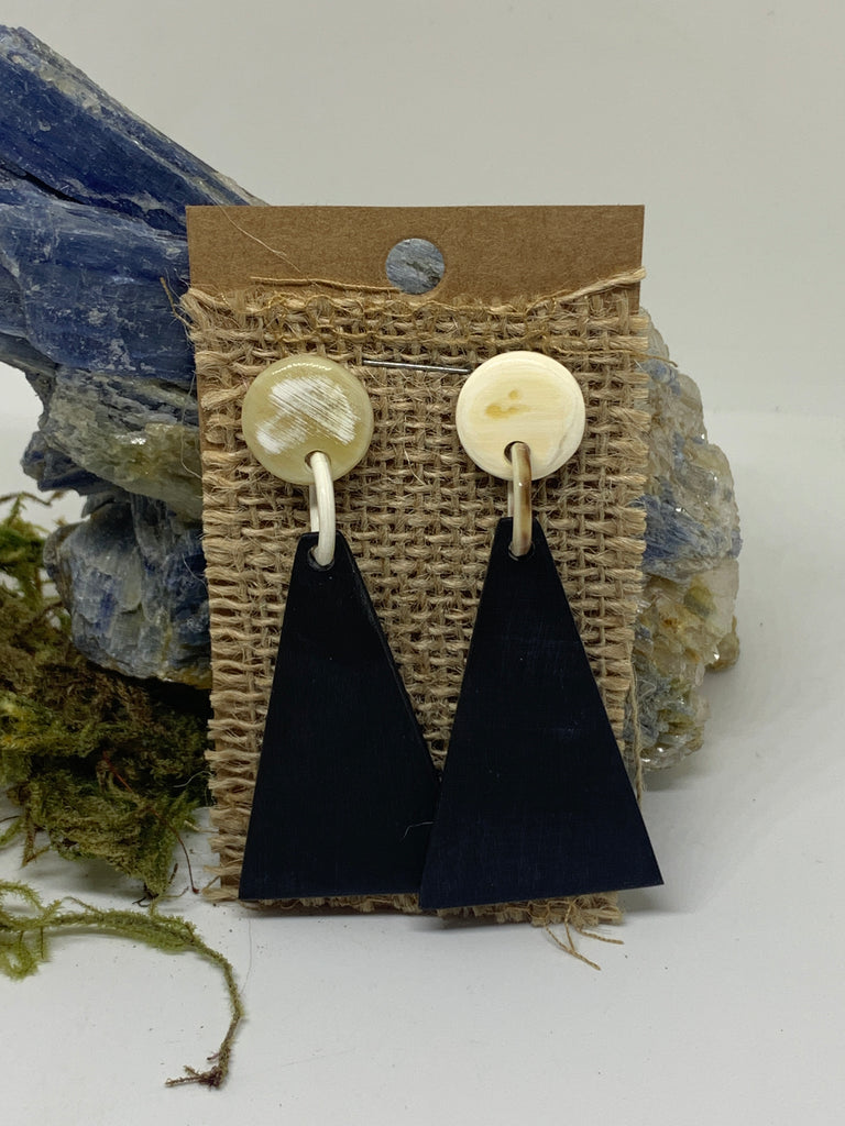 Black Bone Chandelier Earrings