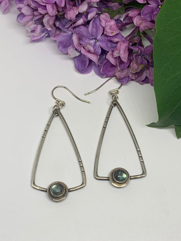 Labradorite Trapeze Earrings