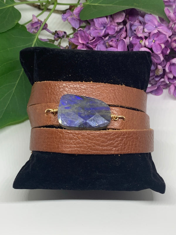 Blue Ridge Leather Bracelet