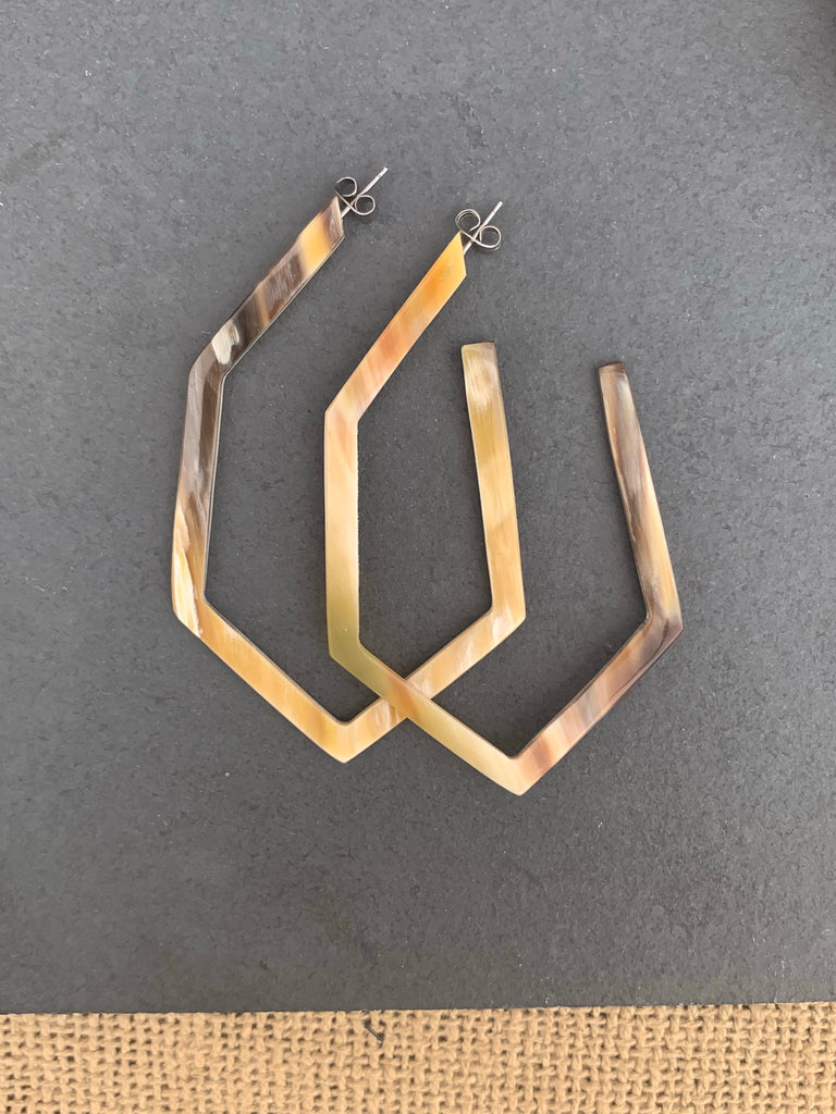 Geometric Buffalo Earrings