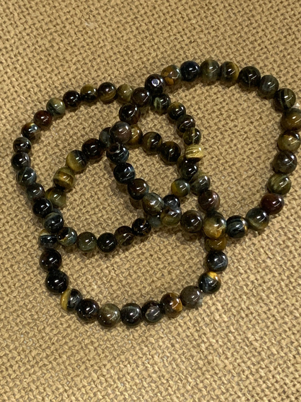 Black Tiger's Eye Stretch Bracelet
