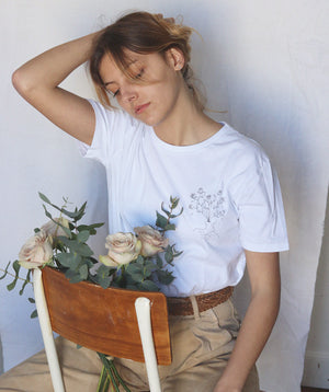 T-shirt Blanc - body in bloom - Mood Clothing
