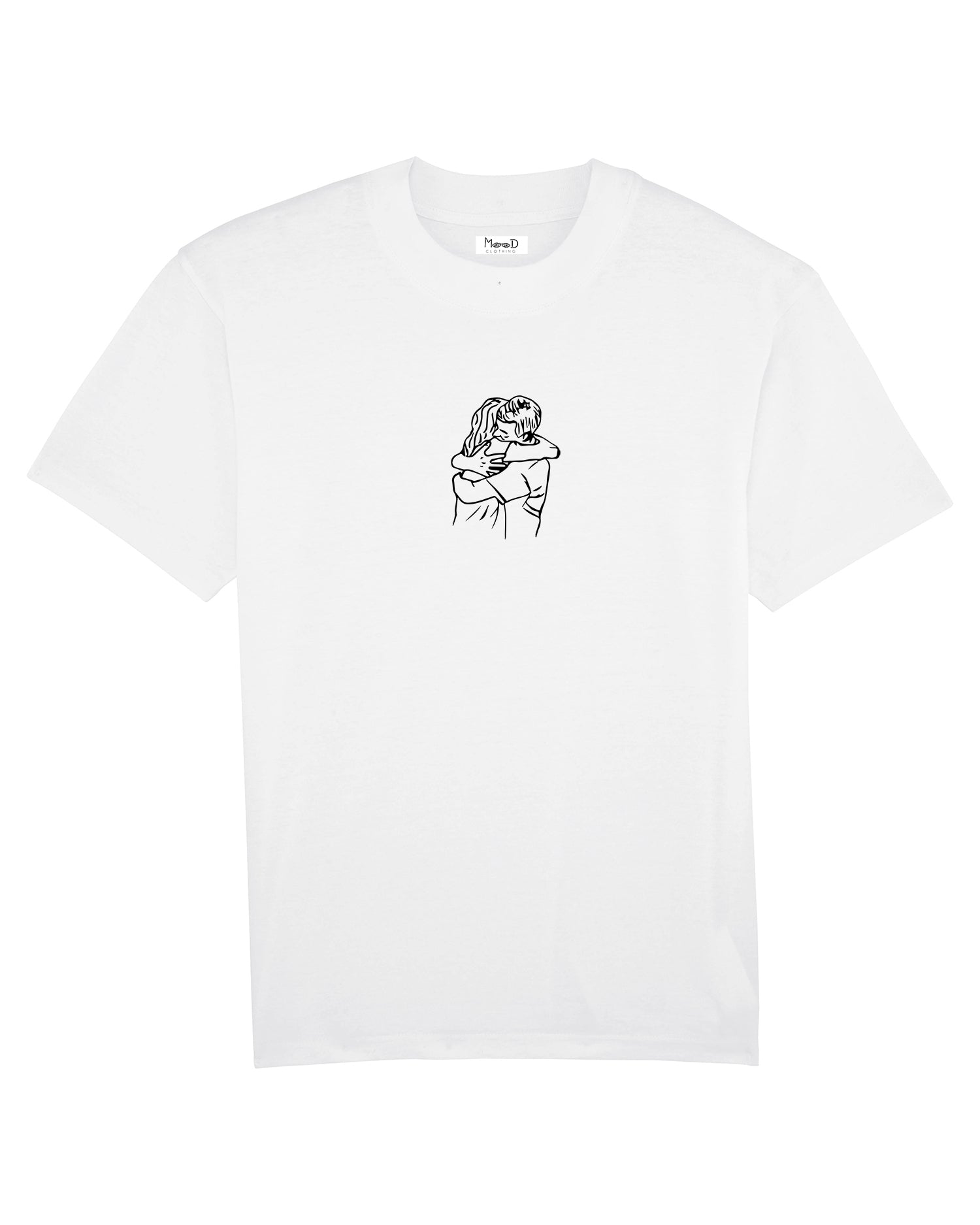 T-shirt Blanc - Hug - Mood Clothing