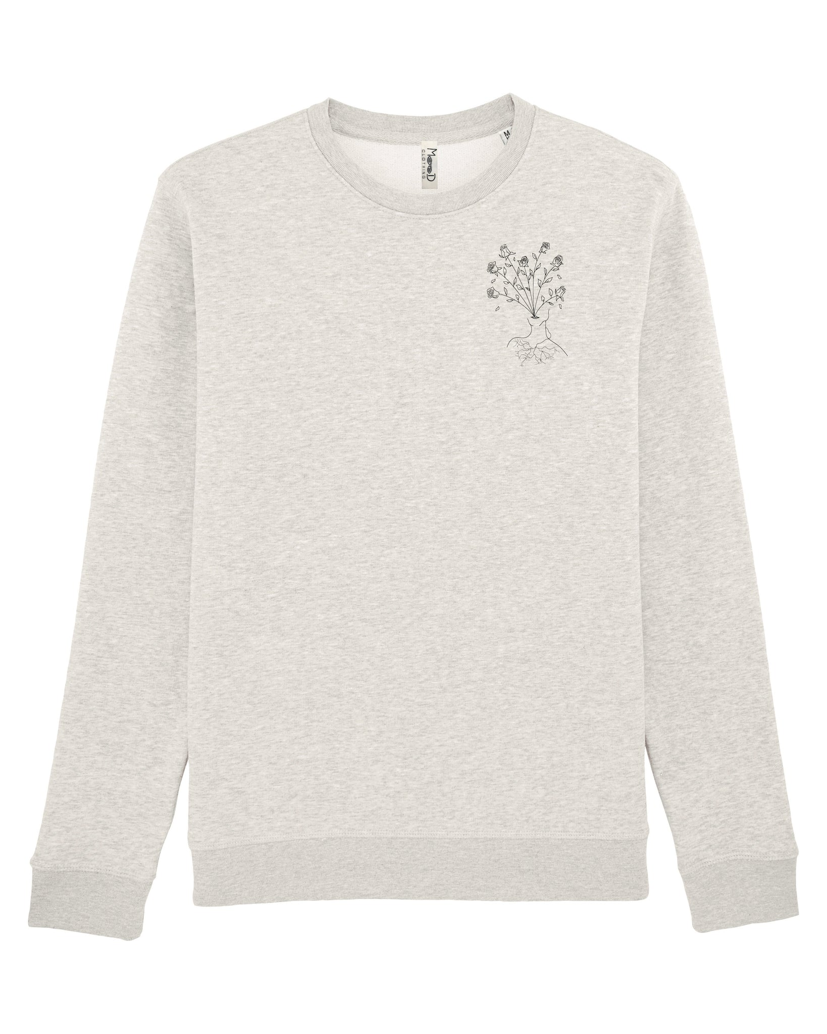Sweatshirt gris crème - Body in bloom - Mood Clothing
