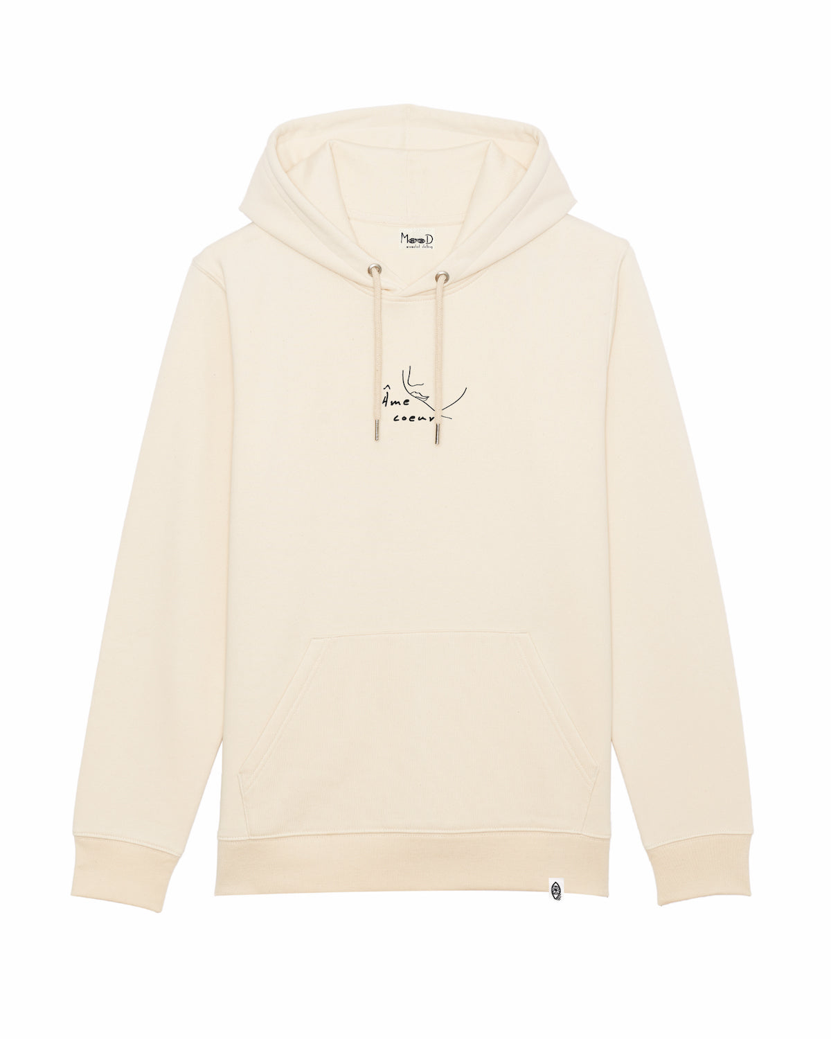 Hoodie natural white - Âme coeur - Mood Clothing