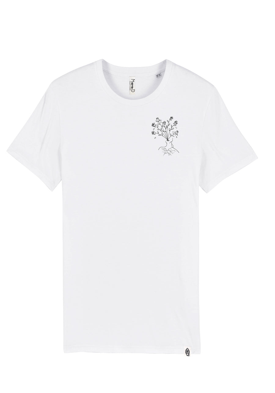 T-shirt Blanc - body in bloom