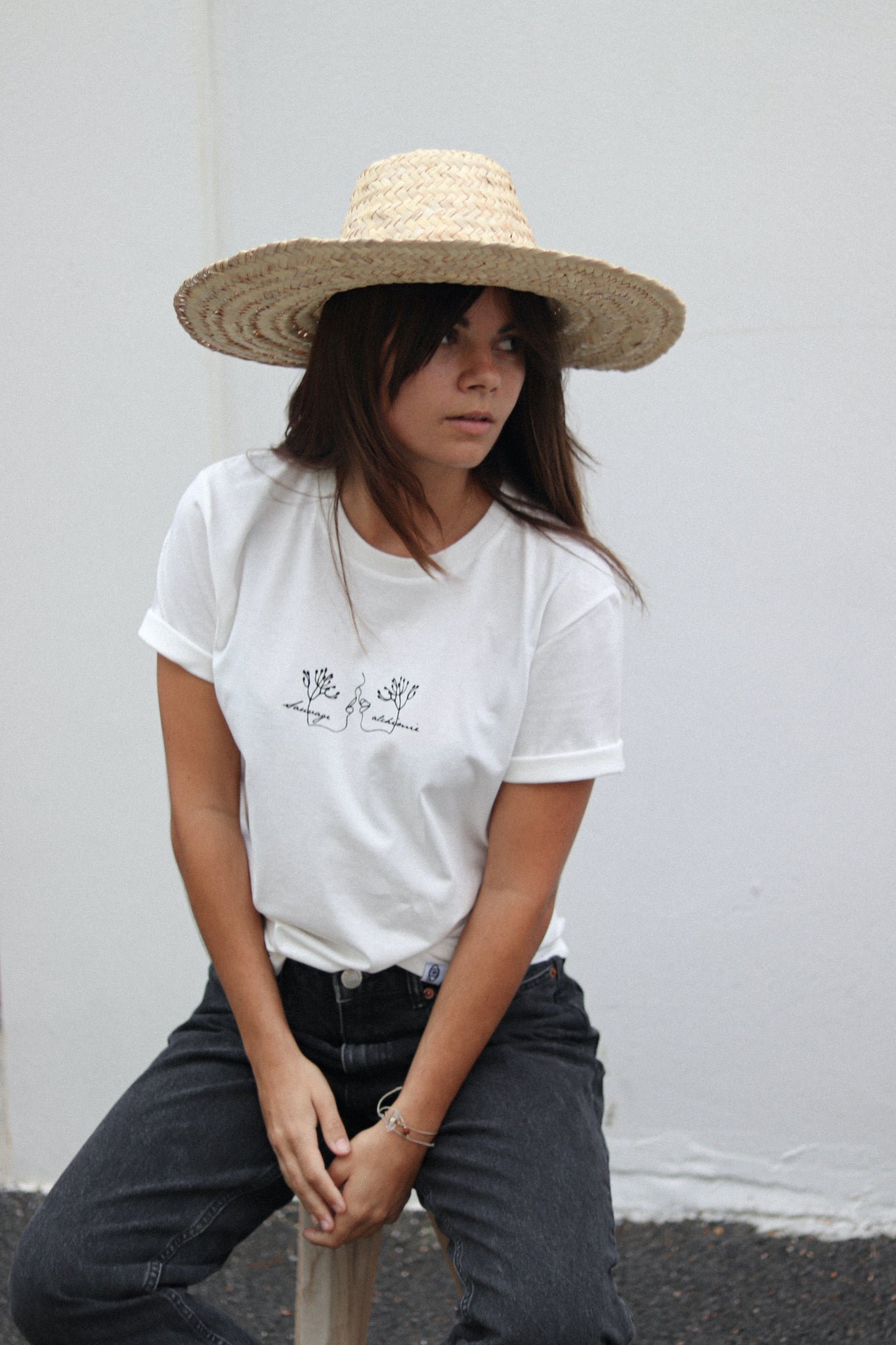 T-shirt off white - Sauvage alchimie x mon petit drap - Mood Clothing