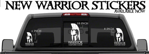 Vinyl Warrior Team Stickers