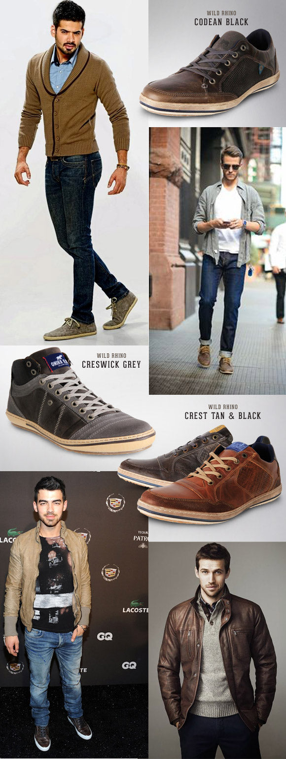 Men's Wild Rhino Casual Leather Boots & Shoes