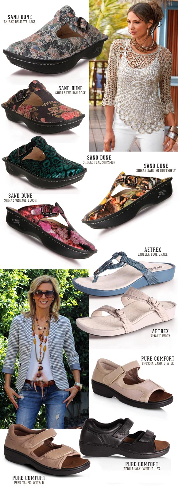Ladies Orthotic Sandals – With removable foot bed