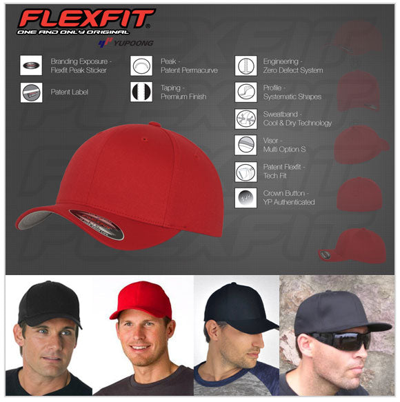 Buy Flexfit Perma Curve baseball caps and hats in Australia