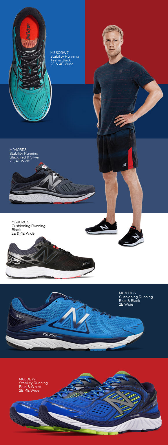 WIDE FITTING SHOES BY NEW BALANCE
