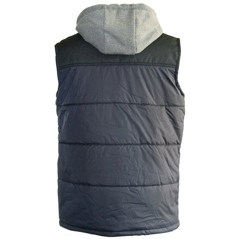 HOODED WORK VEST 1320008 NAVY