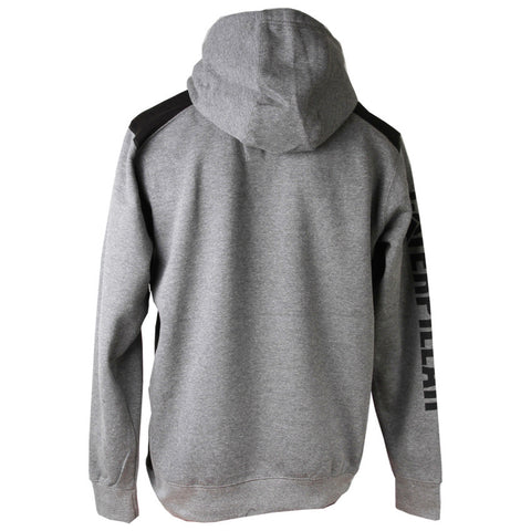 LOGO PANEL HOODED SWEATSHIRT 1910802 DARK HEATHER GREY