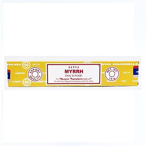 Satya Sai Baba - Myrrh | Beautifully Smelling Incense | Satya Sai Baba | Crystal Heart Since 1986 |