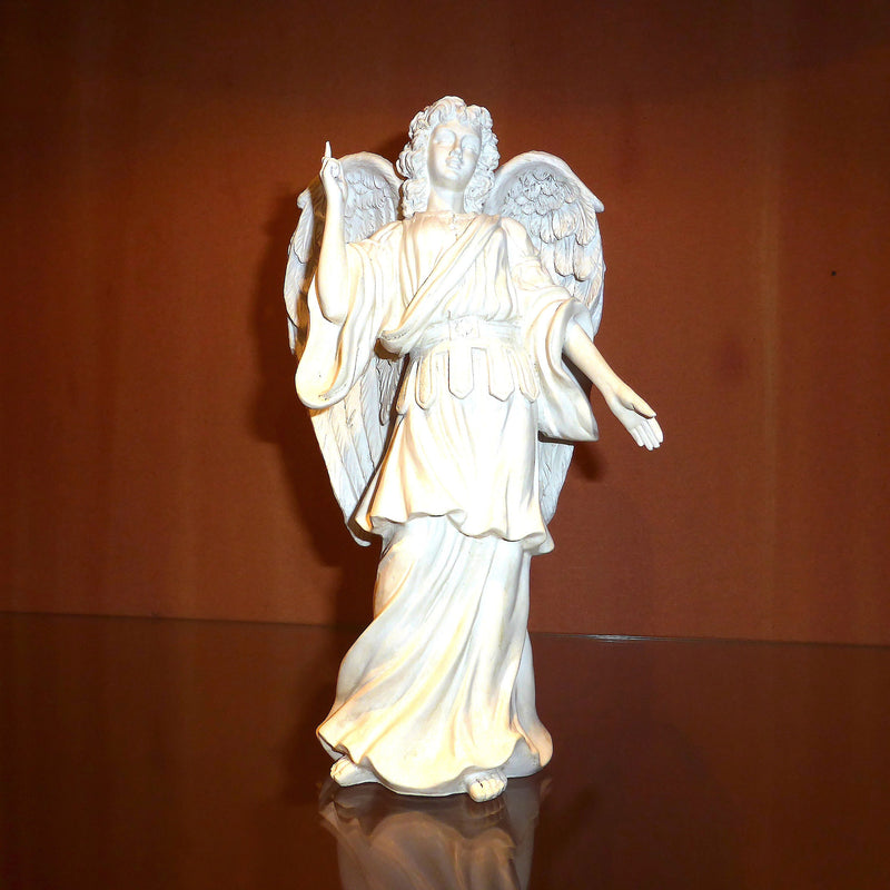 Archangel Raphael | Healing Angel | White Plaster 18 cm high | Crystal Heart Melbourne Australia since 1986