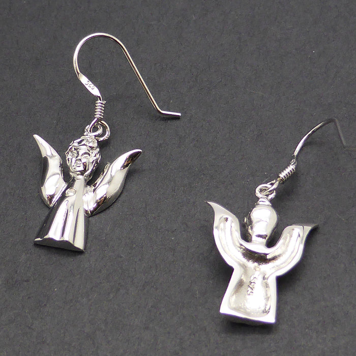 Earring Angel 925 Silver & Natural Diamond | Crystal Heart Melbourne Australia since 1986 | Shipping to USA EU UK Japan
