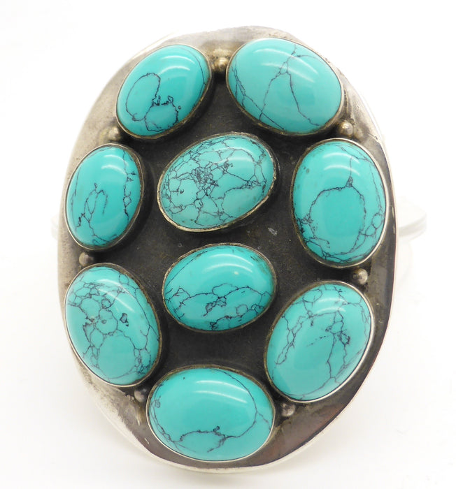 Turquoise Silver Belt Buckle