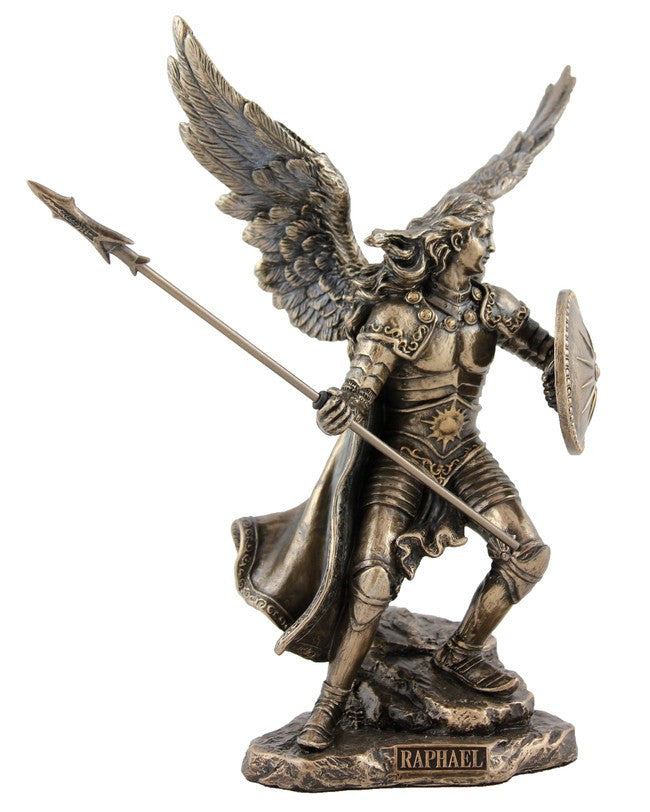 Archangel Raphael Statue | Bronzed Resin | Medium size