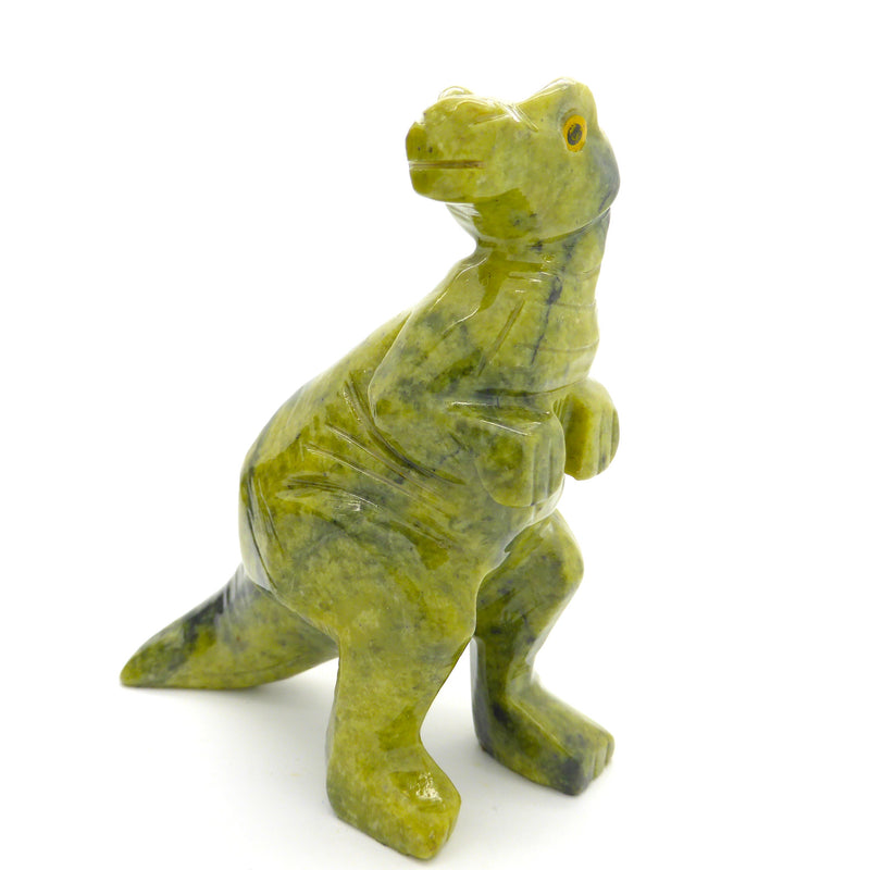 Hand Carved Dinosaur carved from natural Serpentine Melbourne Australia Supplier.