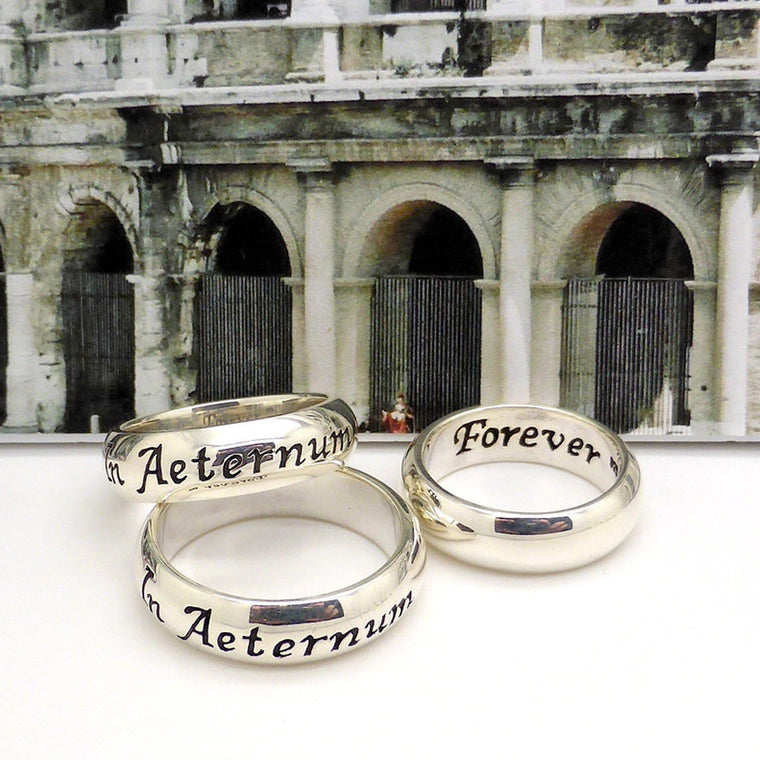 Latin Motto Ring In Aeternum