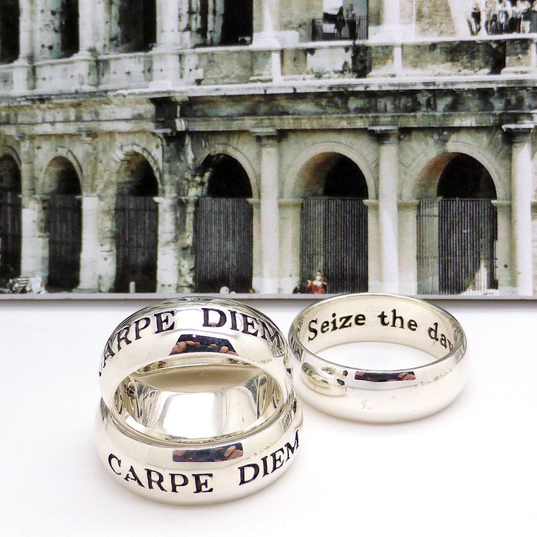 Latin Motto Ring Carpe Diem