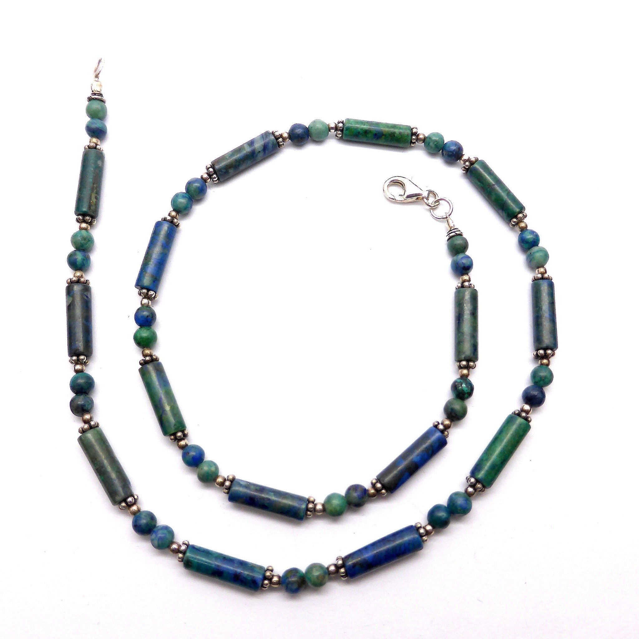 Necklace Chrysocolla Silver
