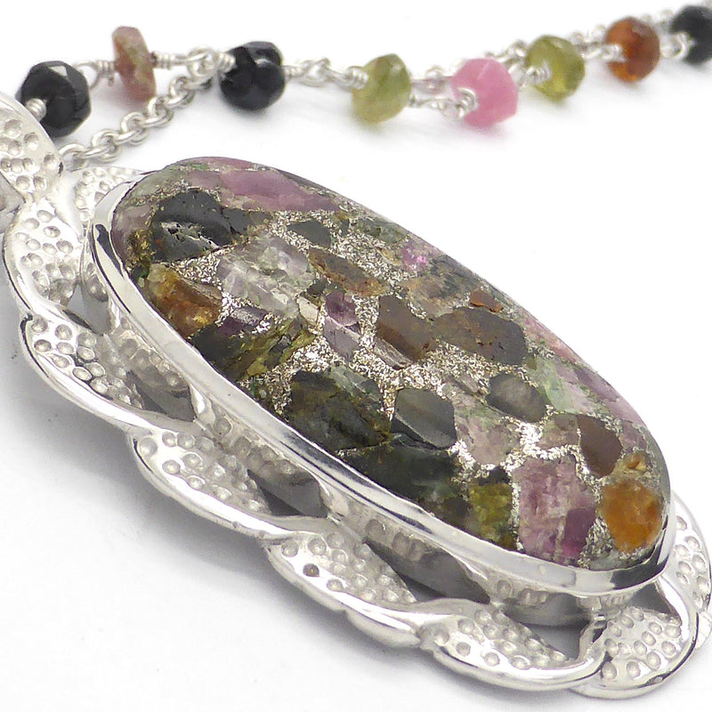 Tourmaline Necklace ~ pink and green