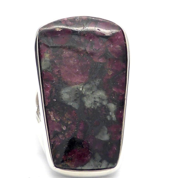 Eudialyte Crystal Ring I 925 Sterling Silver | US Size 8 | Courage Spiritual Warrior | Aries | Crystal Heart Melbourne Australia since 1986