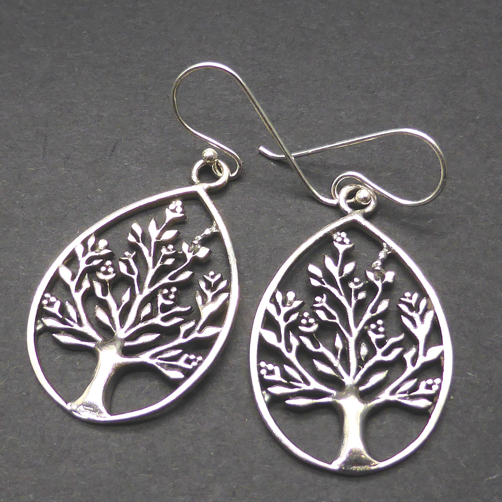 Earrings Tree in blossom | 925 Sterling silver, Drop 35 mm | Tear drop shape | Australian Supplier | Melbourne Australia