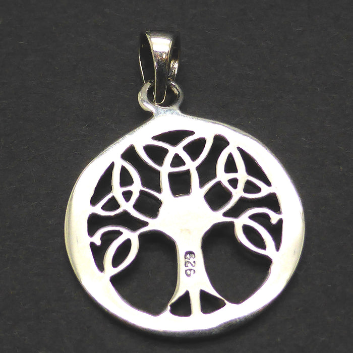 Pendant Celtic Tree in 925 Sterling Silver |  Simple small powerful design | Diameter 19 mm | Crystal Heart Melbourne Australia since 1986